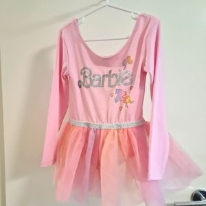 Little girls leotard with tulle skirt